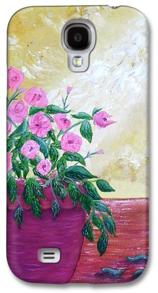 Sunlight On Pots Mixed Media Galaxy S4 Cases - Floral Galaxy S4 Case by Annette Forlenza