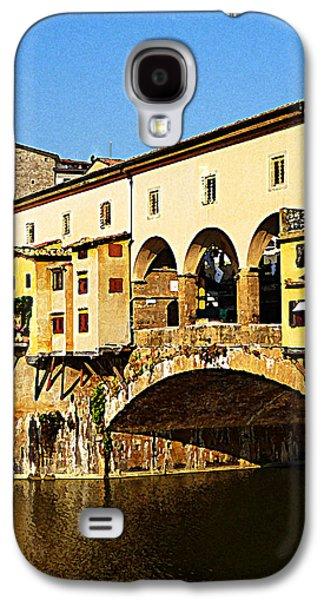 Famous Bridge Galaxy S4 Cases - Florence Italy Ponte Vecchio Galaxy S4 Case by Irina Sztukowski