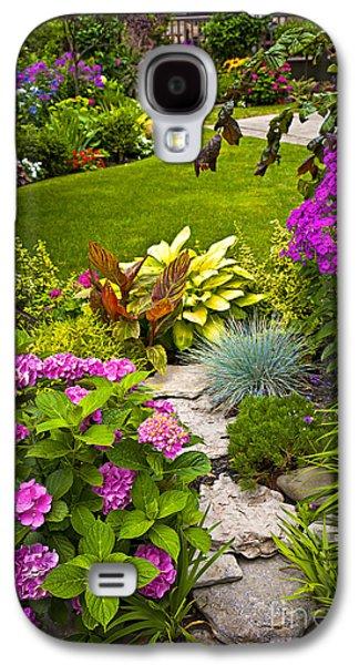 Botanical Galaxy S4 Cases - Flower garden Galaxy S4 Case by Elena Elisseeva
