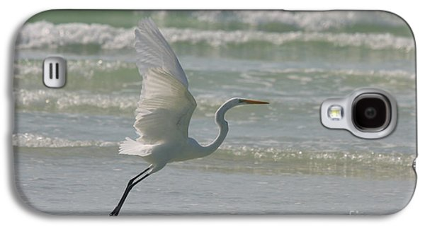 Waterscape Galaxy S4 Cases - Flying White Egret Galaxy S4 Case by Christiane Schulze Art And Photography