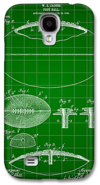 Pro Football Galaxy S4 Cases - Football Patent 1902 - Green Galaxy S4 Case by Stephen Younts