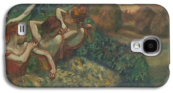 Tutus Paintings Galaxy S4 Cases - Four Dancers Galaxy S4 Case by Edgar Degas