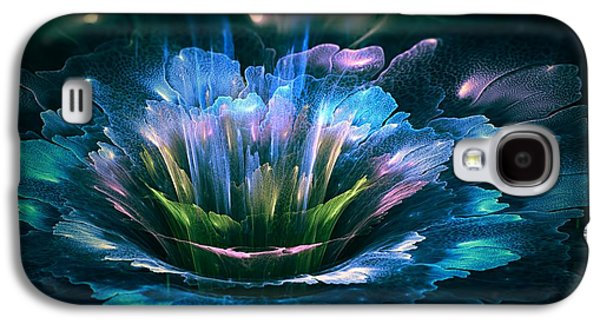 Abstract Digital Art Galaxy S4 Cases - Fractal flower Galaxy S4 Case by Martin Capek