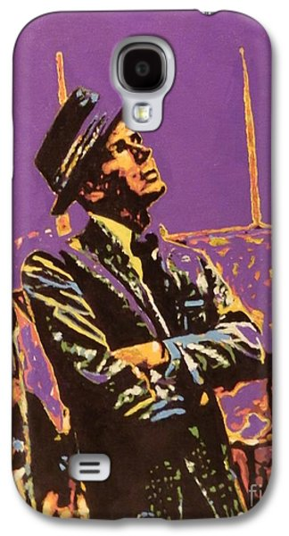 Frank Sinatra Paintings Galaxy S4 Cases - Frank Galaxy S4 Case by Laura Toth