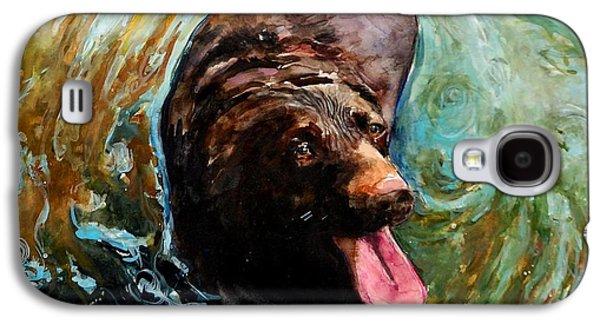 Chocolate Labrador Retriever Galaxy S4 Cases - Fudge Ripple Galaxy S4 Case by Molly Poole