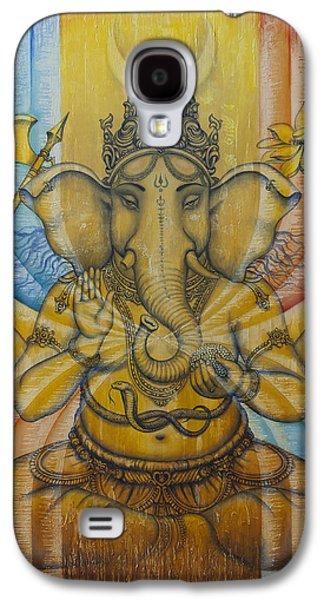 Unity Paintings Galaxy S4 Cases - Ganesha  Galaxy S4 Case by Vrindavan Das