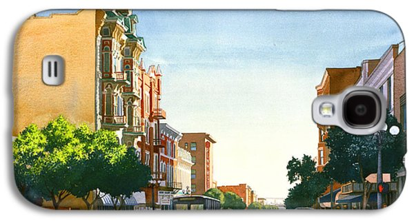 City Scene Galaxy S4 Cases - Gaslamp Quarter San Diego Galaxy S4 Case by Mary Helmreich