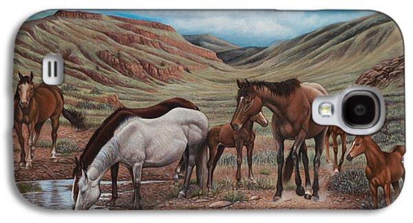 Quarter Horses Galaxy S4 Cases - Gathering At Diablo Canyon Galaxy S4 Case by Ricardo Chavez-Mendez