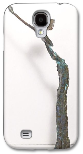 Native Sculptures Galaxy S4 Cases - Gestures of Geronimo Galaxy S4 Case by Janet  Lipp