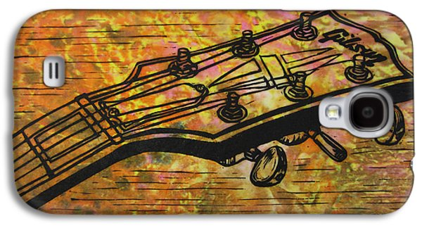 Block Print Drawings Galaxy S4 Cases - Gibson Galaxy S4 Case by William Cauthern