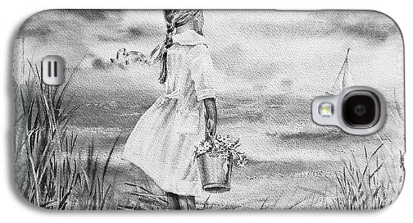 Girl Galaxy S4 Cases - Girl And The Ocean Galaxy S4 Case by Irina Sztukowski