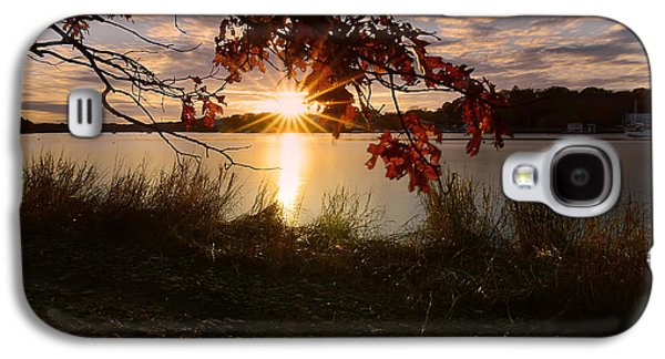 Sunset Abstract Galaxy S4 Cases - Goddard Marina Galaxy S4 Case by Lourry Legarde