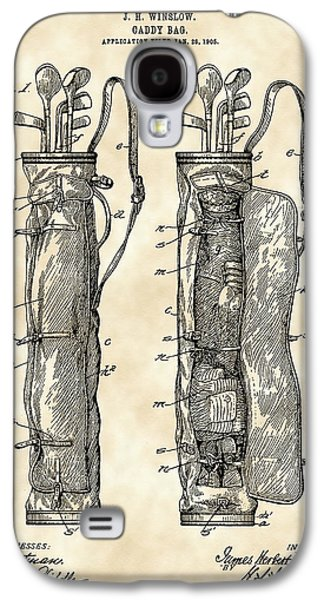 Golf Bag Patent 1905 - Vintage Galaxy S4 Case by Stephen Younts