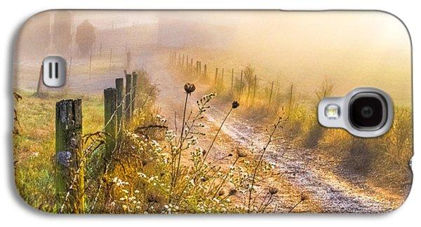 Tn Barn Galaxy S4 Cases - Good Morning Farm Galaxy S4 Case by Debra and Dave Vanderlaan