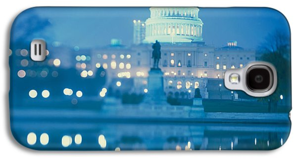 Government Building Lit Up At Night Galaxy S4 Case by Panoramic Images