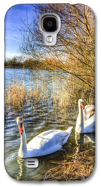 Swan Pair Galaxy S4 Cases - Graceful Swans Galaxy S4 Case by David Pyatt