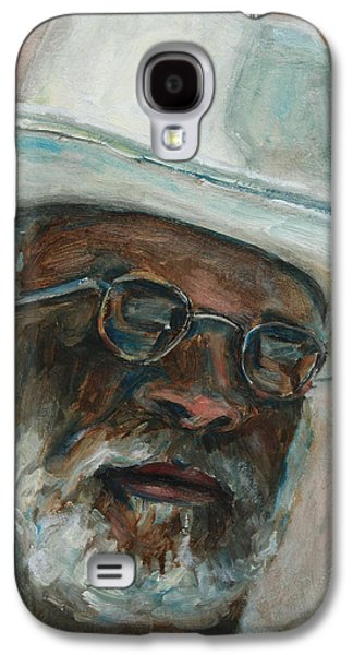 African-american Galaxy S4 Cases - Gray Beard Under White Hat Galaxy S4 Case by Xueling Zou