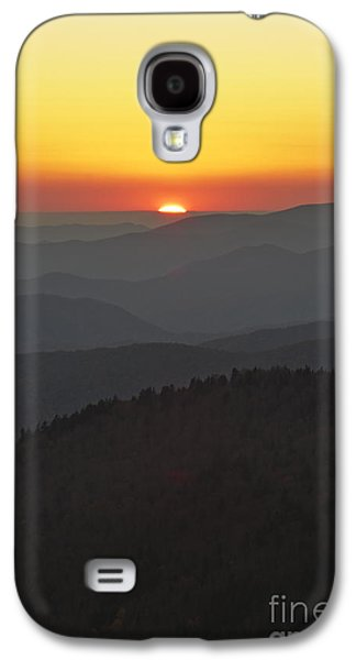 Setting Sun Galaxy S4 Cases - Great Smokie Mountains National Park Sunset Galaxy S4 Case by Dustin K Ryan