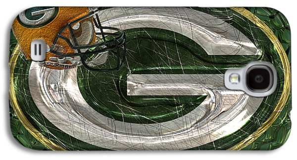 Winter Digital Art Galaxy S4 Cases - Green Bay Packers Galaxy S4 Case by Jack Zulli