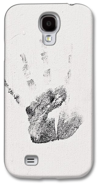 Abstract Forms Photographs Galaxy S4 Cases - Handprint Galaxy S4 Case by Tom Gowanlock