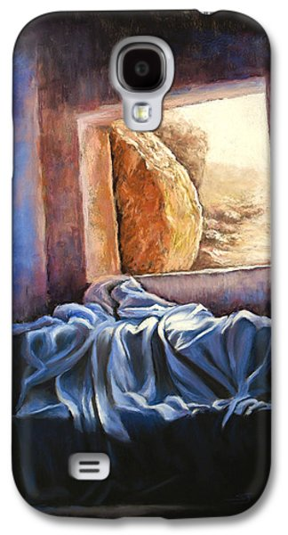 Jesus Pastels Galaxy S4 Cases - He Is Risen Galaxy S4 Case by Susan Jenkins