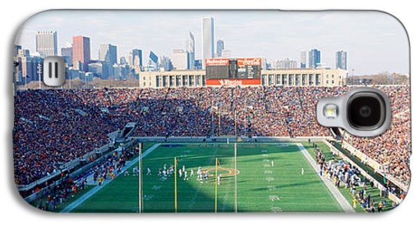 Soldier Field Galaxy S4 Cases - High Angle View Of Spectators Galaxy S4 Case by Panoramic Images