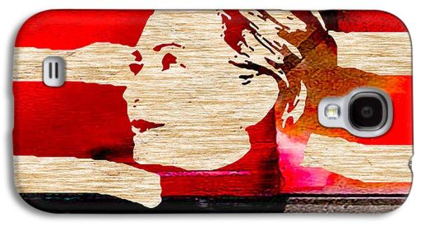 Democrat Mixed Media Galaxy S4 Cases - Hillary Clinton Galaxy S4 Case by Marvin Blaine