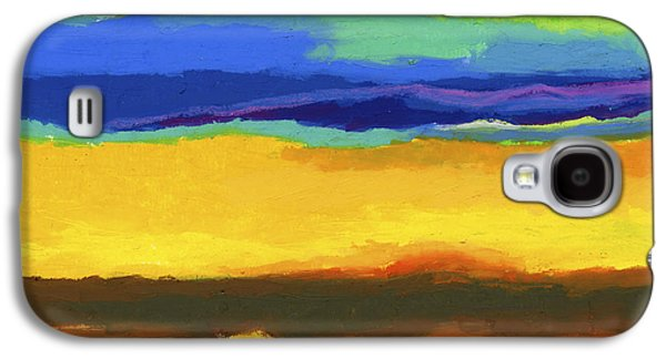 Sunset Abstract Pastels Galaxy S4 Cases - Horizons Galaxy S4 Case by Stephen Anderson