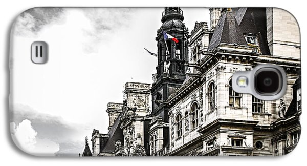 Visitor Galaxy S4 Cases - Hotel de Ville in Paris Galaxy S4 Case by Elena Elisseeva