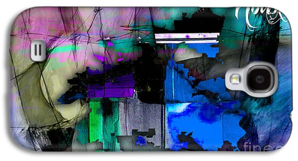 Houston Texas Map Watercolor Galaxy S4 Case by Marvin Blaine