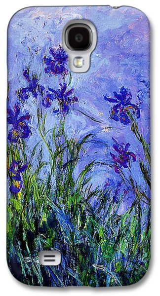 Recently Sold -  - Abstract Nature Galaxy S4 Cases - Irises Galaxy S4 Case by Claude Monet