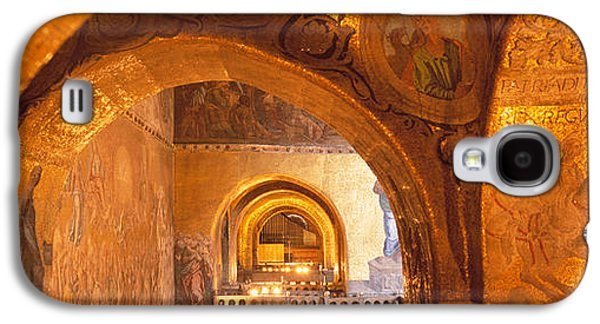 Interior Scene Photographs Galaxy S4 Cases - Italy, Venice, San Marcos Cathedral Galaxy S4 Case by Panoramic Images