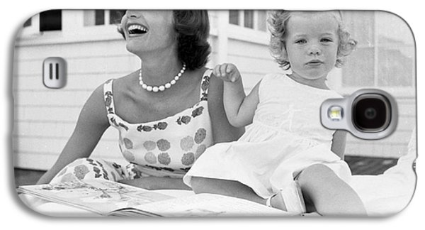 First-lady Galaxy S4 Cases - Jacqueline and Caroline Kennedy at Hyannis Port 1959 Galaxy S4 Case by The Phillip Harrington Collection
