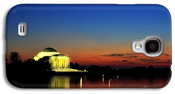 Us Capital Mixed Media Galaxy S4 Cases - Jefferson Monument Reflection Galaxy S4 Case by Lane Erickson