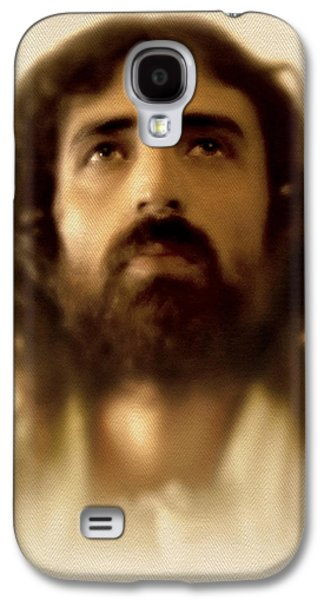 Face Digital Galaxy S4 Cases - Jesus in Glory Galaxy S4 Case by Ray Downing