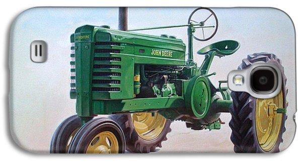 Green Galaxy S4 Cases - John Deere Tractor Galaxy S4 Case by Hans Droog
