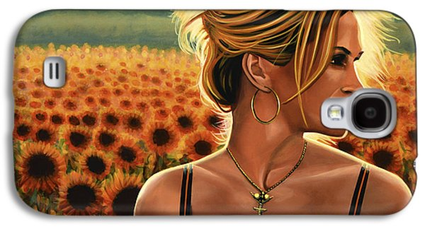 Mystic Paintings Galaxy S4 Cases - Julia Roberts Galaxy S4 Case by Paul  Meijering