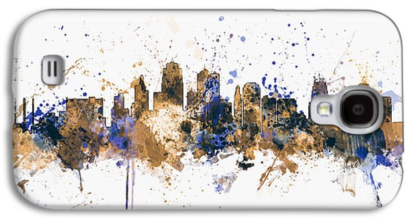 Kansas Galaxy S4 Cases - Kansas City Skyline Galaxy S4 Case by Michael Tompsett