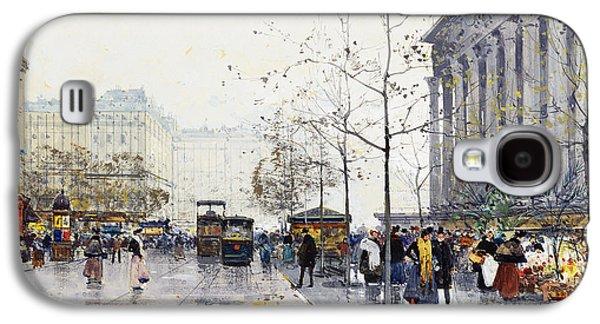19th Century Galaxy S4 Cases - La Madeleine Paris Galaxy S4 Case by Eugene Galien-Laloue