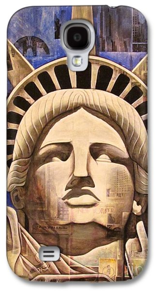 Statue Of Liberty Mixed Media Galaxy S4 Cases - Lady Liberty Galaxy S4 Case by Joseph Sonday