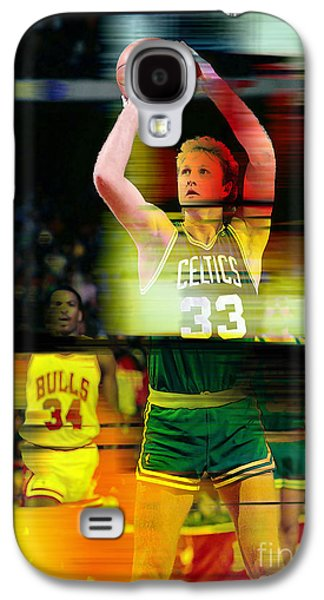 Larry Bird Galaxy S4 Cases - Larry Bird Galaxy S4 Case by Marvin Blaine
