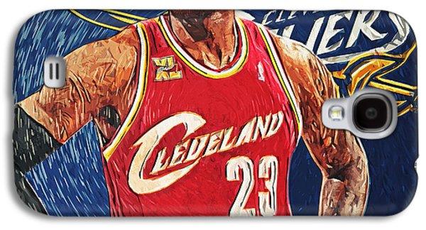 Kobe Bryant Wall Art Galaxy S4 Cases - LeBron James Galaxy S4 Case by Taylan Soyturk