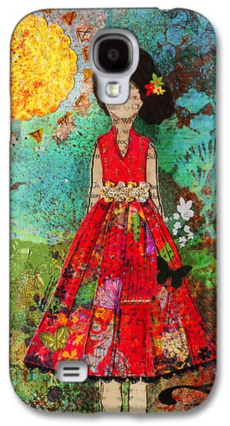 Folk Art Mixed Media Galaxy S4 Cases - Let The Sun Shine In Galaxy S4 Case by Janelle Nichol