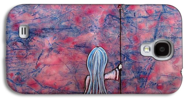 Little Girl Mixed Media Galaxy S4 Cases - Let Your Heart Lead The Way  Galaxy S4 Case by Christine Cholowsky