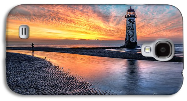Sunsets Digital Art Galaxy S4 Cases - Lighthouse Sunset Galaxy S4 Case by Adrian Evans