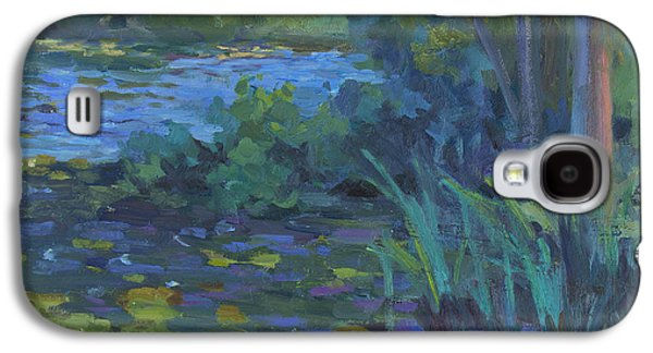 Waterscape Paintings Galaxy S4 Cases - Lily Pond Galaxy S4 Case by Diane McClary