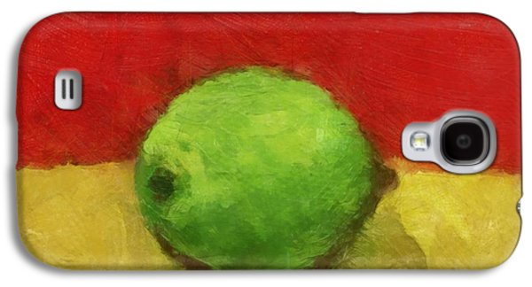 Gold Lime Green Galaxy S4 Cases - Lime with Red and Gold Galaxy S4 Case by Michelle Calkins