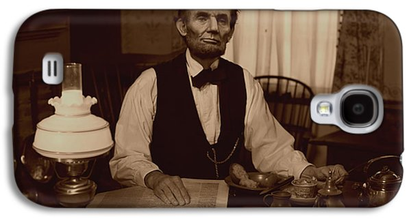 Ray Downing Galaxy S4 Cases - Lincoln at Breakfast Galaxy S4 Case by Ray Downing