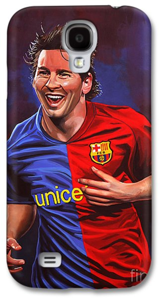 Leo Galaxy S4 Cases - Lionel Messi  Galaxy S4 Case by Paul Meijering