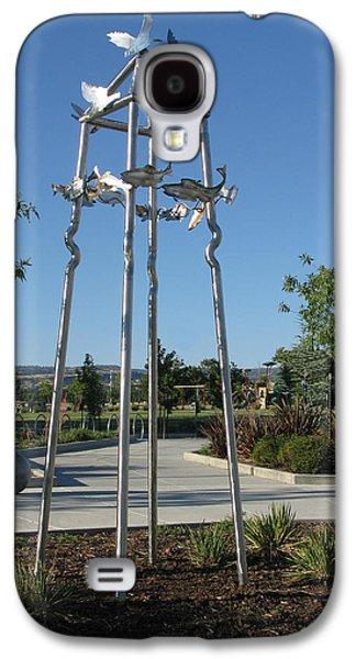 Sun Sculptures Galaxy S4 Cases - Little Chico Creek Sculpture Galaxy S4 Case by Peter Piatt